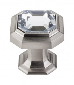 Top Knobs Chareau Crystal knob brushed satin nickel