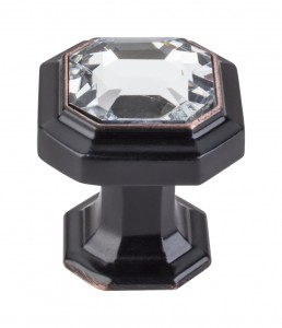 Top Knobs Chareau Crystal knob tuscan bronze