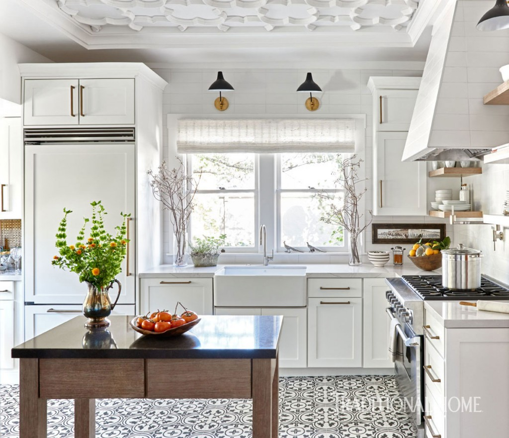 Top Knobs Aspen cabinet pulls in Traditional Home Showhouse