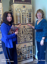 Left: Julie Fifield (Design & Sales) Right: Mary Lou Slusar (Owner)