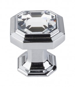 Top Knobs Chareau Crystal knob polished chrome