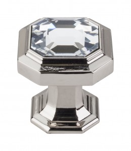 Top Knobs Chareau Crystal knob polished nickel