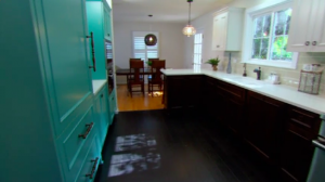 The end results were a beautiful, new and colorful kitchen